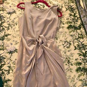 Saks fifth ave 100% silk light grey dress size 2